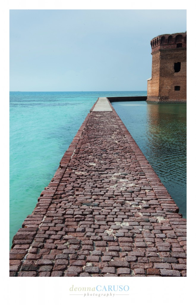 This is the view when you travel the perimeter of the Dry Tortugas or Fort Jefferson