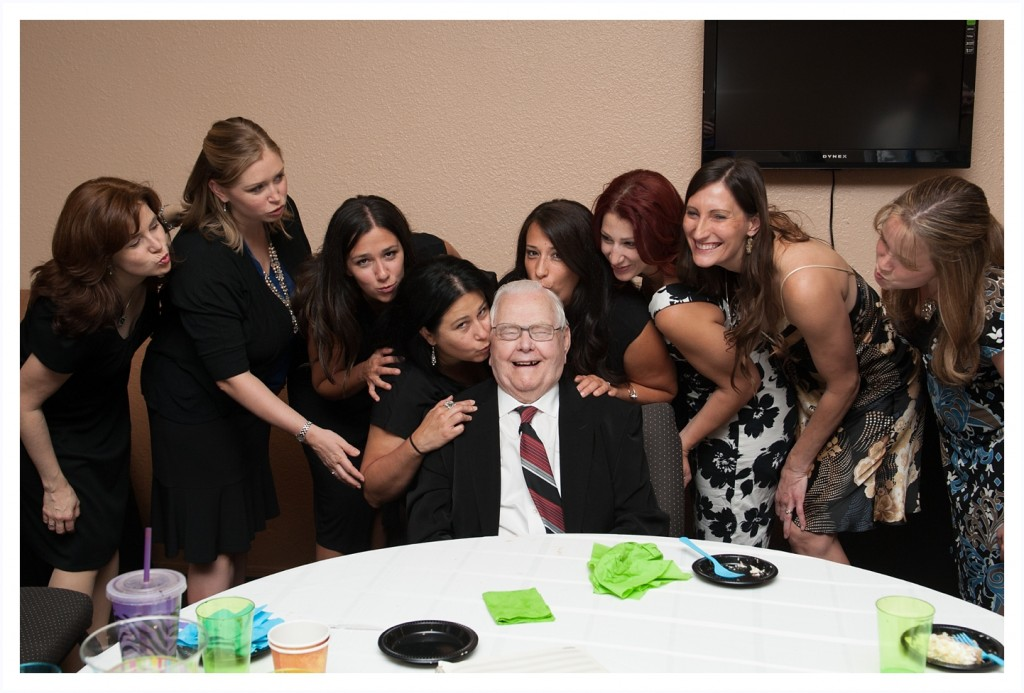 Grandpa and all his girls!